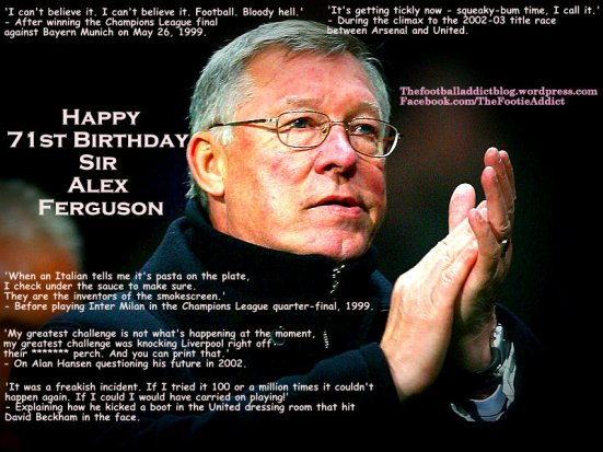 Famous Quotes by Sir Alex Ferguson