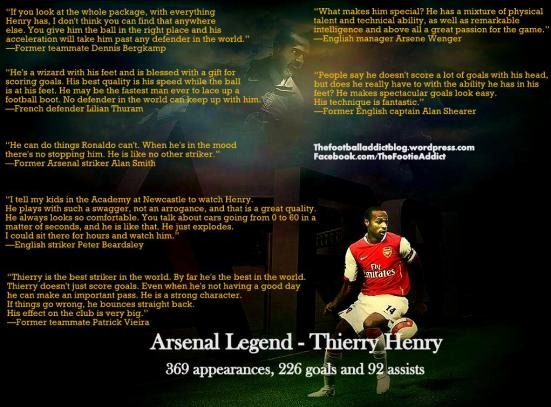 Arsenal Legend Thierry Henry in Quotes