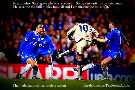 Ronaldinho goal versus Chelsea in 2006