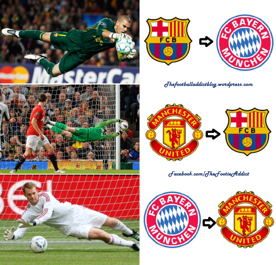 valdes to bayern, de gea to barca and neuer to man united